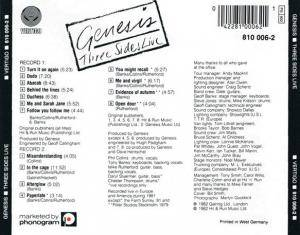 Genesis: Three Sides Live (2-CD) - Bild 2