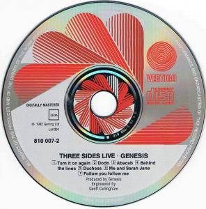Genesis: Three Sides Live (2-CD) - Bild 4