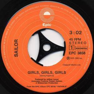 "Sailor: Girls, Girls, Girls (7"") - Bild 2"