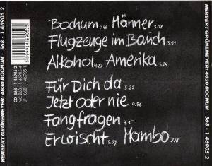 Herbert Grönemeyer: 4630 Bochum (CD) - Bild 2