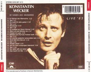Konstantin Wecker: Im Namen Des Wahnsinns (CD) - Bild 2