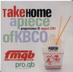 FMQB - Progressions # 61 :    Take Home A Piece Of KBCO - Cover