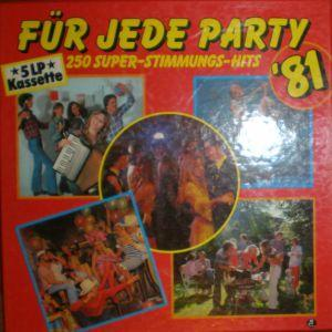 Für Jede Party '81 - 250 Super-Stimmungs-Hits - Cover