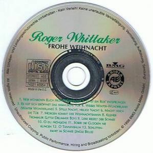 roger whittaker frohe weihnacht cd 1996 compilation. Black Bedroom Furniture Sets. Home Design Ideas