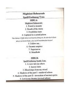 Cover - Mightiest: Mightiest Rehearsals / Spell/Gothmog Trax
