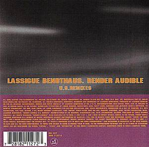 Cover - Lassigue Bendthaus: Render Audible U.S. Remixes