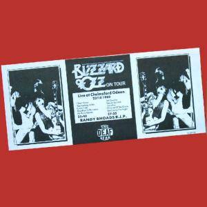 Ozzy Osbourne: Blizzard Of Ozz On Tour - Cover