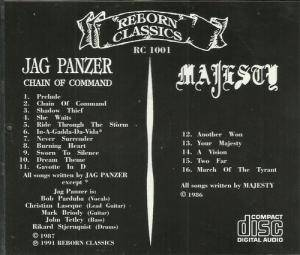 Jag Panzer / Majesty: Chain Of Command / Majesty (Split-CD) - Bild 3