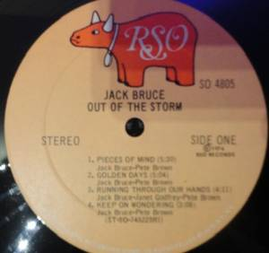 Jack Bruce: Out Of The Storm (LP) - Bild 3