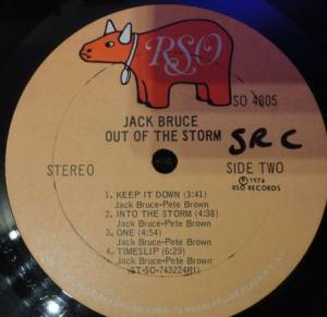 Jack Bruce: Out Of The Storm (LP) - Bild 4