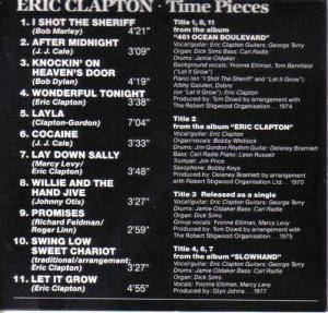 Eric Clapton / Derek And The Dominos: Time Pieces - The Best Of Eric Clapton (Split-CD) - Bild 2