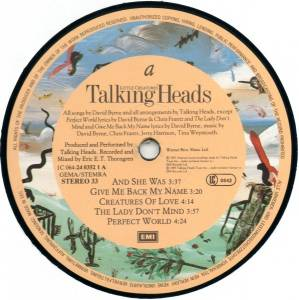 Talking Heads: Little Creatures (LP) - Bild 6
