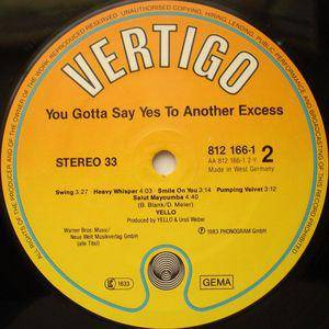Yello: You Gotta Say Yes To Another Excess (LP) - Bild 4