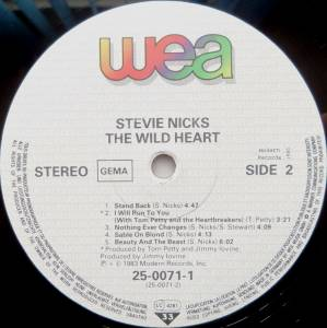 Stevie Nicks: The Wild Heart (LP) - Bild 4
