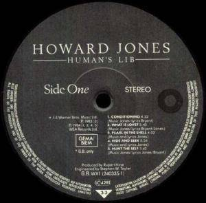 Howard Jones: Human's Lib (LP) - Bild 3