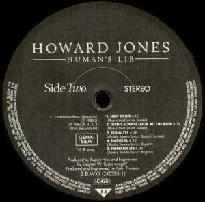 Howard Jones: Human's Lib (LP) - Bild 4