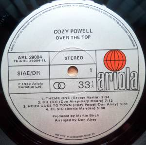 Cozy Powell: Over The Top (LP) - Bild 3