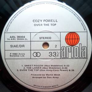 Cozy Powell: Over The Top (LP) - Bild 4