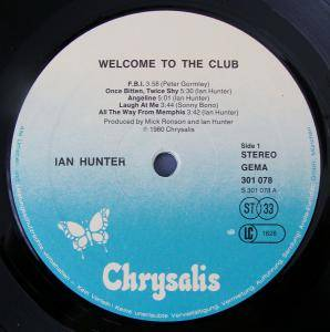 Ian Hunter: Welcome To The Club (2-LP) - Bild 2