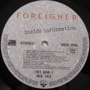 Foreigner: Inside Information (LP) - Bild 6
