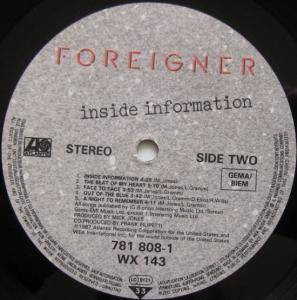 Foreigner: Inside Information (LP) - Bild 7