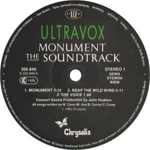 Ultravox: Monument - The Soundtrack (LP) - Bild 3