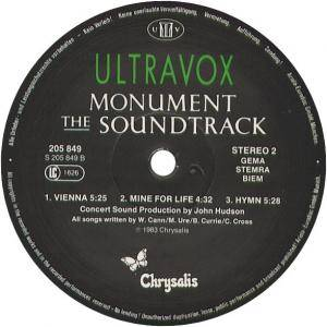 Ultravox: Monument - The Soundtrack (LP) - Bild 4
