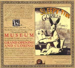 Sleepytime Gorilla Museum: Grand Opening And Closing - Cover