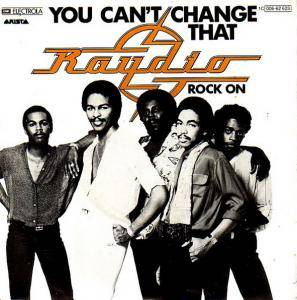 Cover - Raydio: You Can't Change That