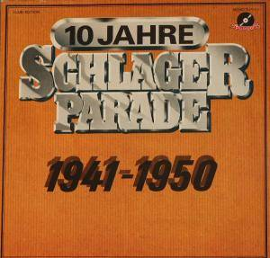 Cover - Lale Andersen: 10 Jahre Schlagerparade - 1942