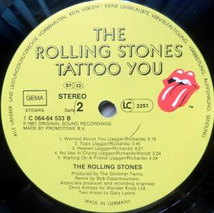 The Rolling Stones: Tattoo You (LP) - Bild 4