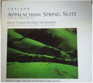 Cover - Aaron Copland: Appalachian Spring Suite, Eight Poems Of Emily Dickinson