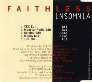 Faithless: Insomnia (Single-CD) - Bild 2