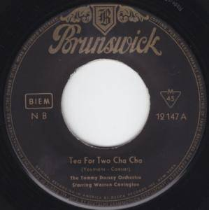 Tommy Dorsey Orchestra: Tea For Two Cha Cha - Cover