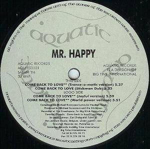 Mr. Happy: Come Back To Love - Cover