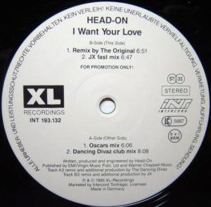 Cover - Head-On: I Want Your Love