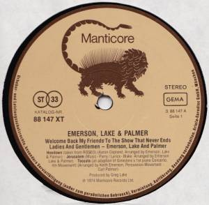 Emerson, Lake & Palmer: Welcome Back, My Friends, To The Show That Never Ends - Ladies And Gentlemen (3-LP) - Bild 3