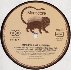 Emerson, Lake & Palmer: Welcome Back, My Friends, To The Show That Never Ends - Ladies And Gentlemen (3-LP) - Bild 4