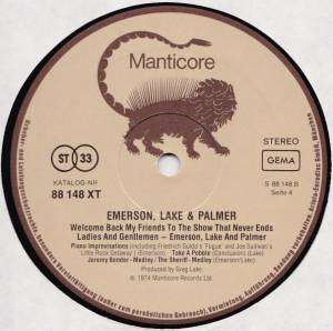 Emerson, Lake & Palmer: Welcome Back, My Friends, To The Show That Never Ends - Ladies And Gentlemen (3-LP) - Bild 6