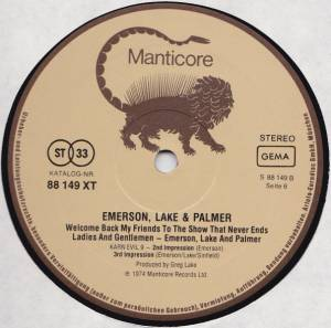 Emerson, Lake & Palmer: Welcome Back, My Friends, To The Show That Never Ends - Ladies And Gentlemen (3-LP) - Bild 8