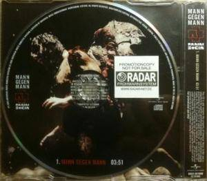 Rammstein: Mann Gegen Mann (Promo-Single-CD) - Bild 2