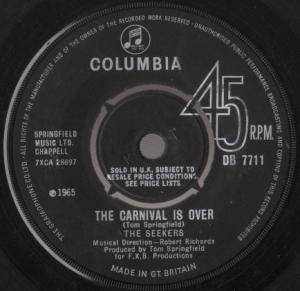 The Seekers: Carnival Is Over, The - Cover