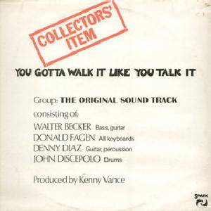 Walter Becker & Donald Fagen: You Gotta Walk It Like You Talk It - Cover