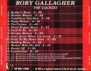 Rory gallagher the cuckoo lyrics