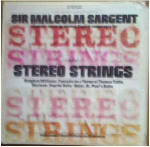Cover - Ralph Vaughan Williams: Sir Malcolm Sargent Conducts Music By Modern English Composers For Strings