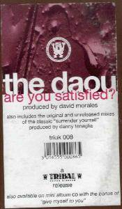 The Daou: Are You Satisfied? - Cover