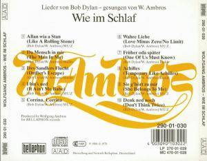Wolfgang Ambros: Wie Im Schlaf - Lieder Von Bob Dylan (CD) - Bild 2