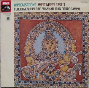 Yehudi Menuhin, Ravi Shankar, Jean-Pierre Rampal: Improvisations - West Meets East 3 - Cover