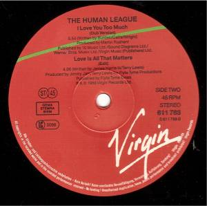 "The Human League: Love Is All That Matters (12"") - Bild 3"