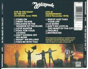 Whitesnake: Live... In The Heart Of The City (CD) - Bild 2